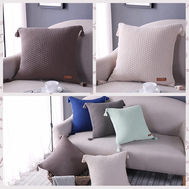 Newest Design Cushion Pillow Case Pillow Filling Cushion With Tassel