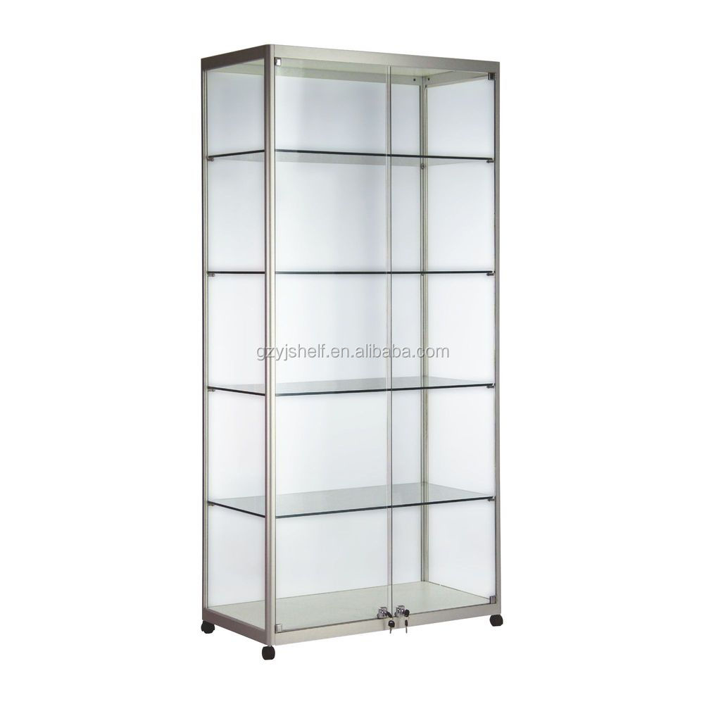 comprehensive glass display stands silver display cabinets glass rh gzyjshelf en alibaba com  stahldas silver glass display cabinet