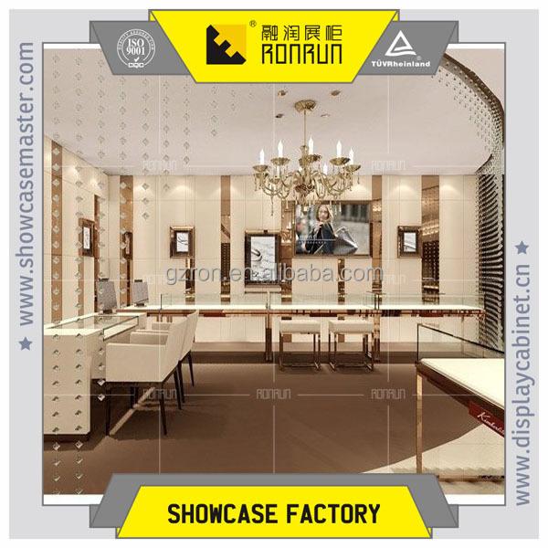 Ultra Clean Glass And Anti-burglary Glass Jewelry Showcase Shelves ...