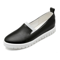 Leather Loafers Casual Flat Belly Ladies Shoes Women