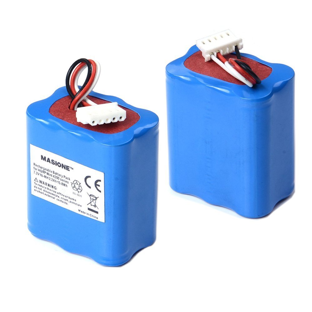2x Masione iRobot Braava 320 321 Mint 4200 4205 Robotic Replacement Vacuum Cleaner Battery 7.2v 2200mAh