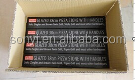 Pizza cooking tool pizza stone set, cordierite refractory pizza baking stone with iron serving rack
