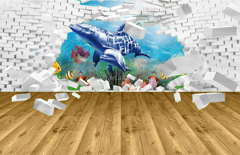 3D Large Format Floor Decals,3d Floor Poster Images,transparent Vinyl 3D Floor  Stickers