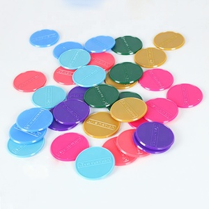 Factory supply custom generic colorful plastic game token