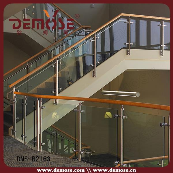 Design Modern Stair Railing Wood And Glass Aluminum Railing Parts ...