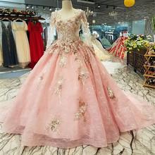 Promosi Mewah Merah Muda Gaun Pengantin Beli Mewah Merah Muda Gaun