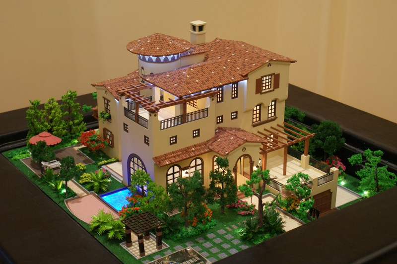 Hot 3d custom made scale villa models architectural for 3d house model maker