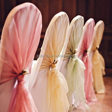 cheap wholesale hot selling chair hood/fancy purple organza chair sash/chair sash for wedding banquet hotel