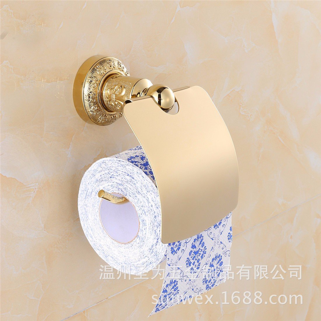 LAONA European style antique gold carving zinc alloy bathroom fittings, toilet paper frame, towel ring,Toilet paper holder