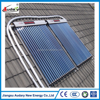 CE approved heat pipe solar collector suit for house, apartment, hotel, school and swimming pool