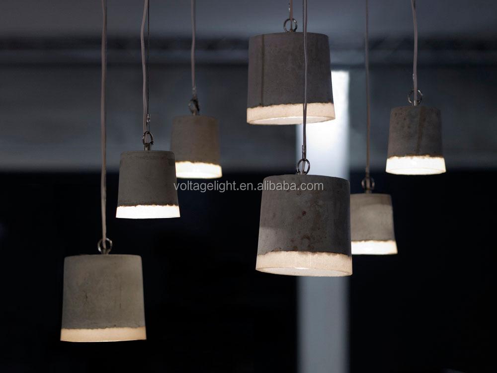 2015 New Decorative Concrete Pendant Light Industrial Concrete ...