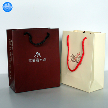 Hot sale small paper gift bag custom new design logo printed shopping bag