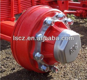 axle for agricultural trailer for farm vehicle