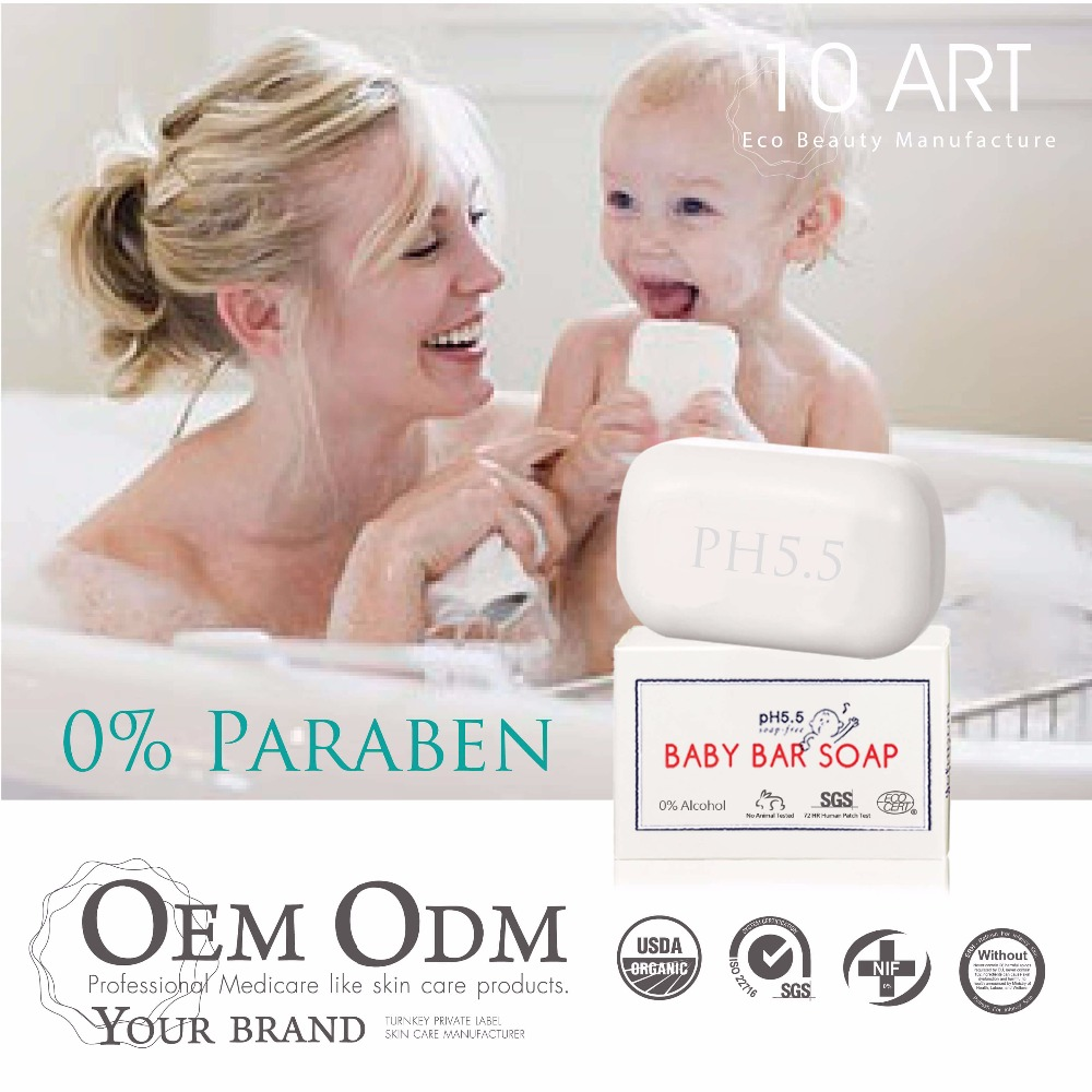 Paraben Free Private Label Babybad Kokosnussölseife
