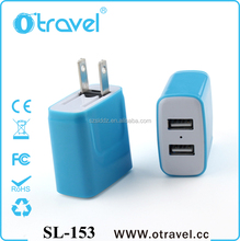 Best Offers Black Usb Wall Travel External usb Charger With Led Light For Samsung Galaxy S3