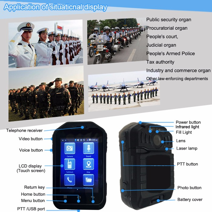 Sowin Long-time Recording Police Body-worn 3g 4g Gps Wifi Camera ...