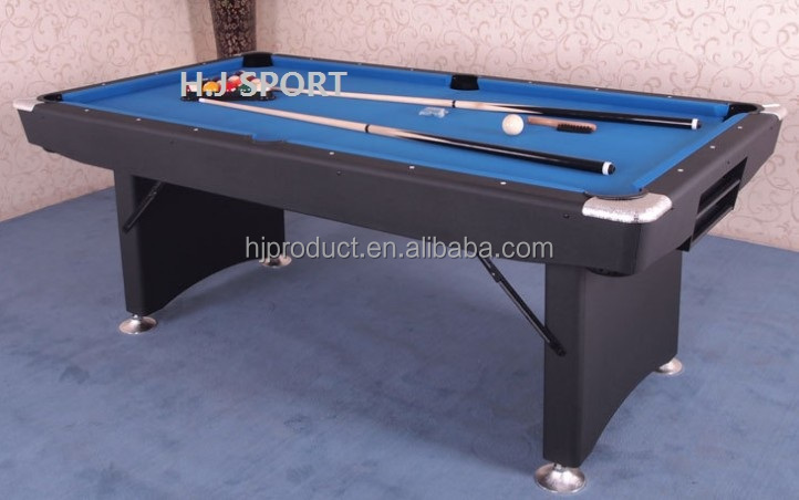 Popular style mdf folding billiard pool table 7ft 8ft with for Table th width auto