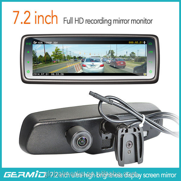 Germid Full Screen Rearview Mirror Dvr Automatically