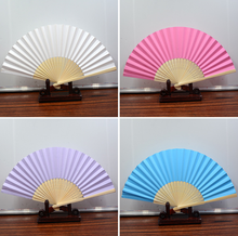 blank bamboo Custom souvenir gift wedding invitation printed paper folding hand fans