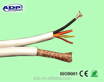 1000ft Cctv Video Camera Cable Rg59 Coax/rs485/power Ptz Data 18/4 ...