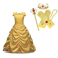 Belle Girls Fancy Dress Beauty and The Best Kids Child Halloween Costume AD866