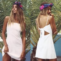 Z30358A Fashion new style summer women's sexy halter bowtie dress