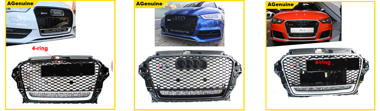 High polish universal use real carbon fiber rear spoiler rear boot lips spoiler trunk lip spoiler wing for Audi A3 S3 sedan