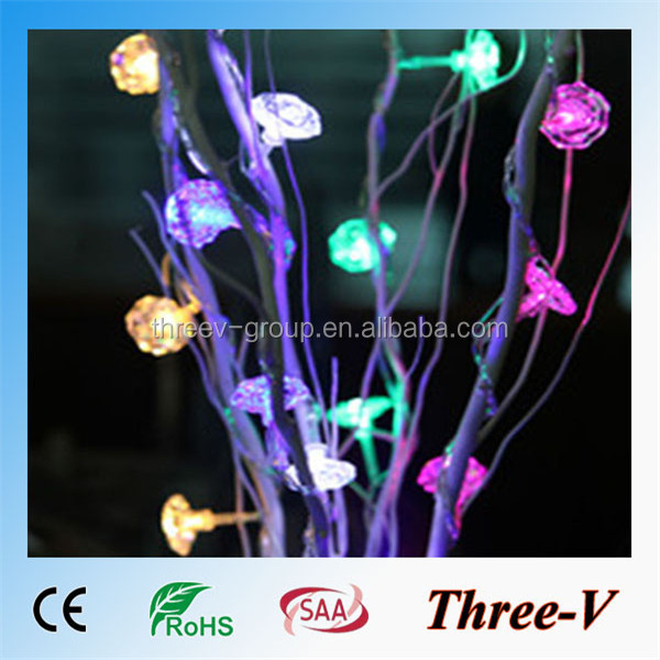 copper wire string lights led branch series
