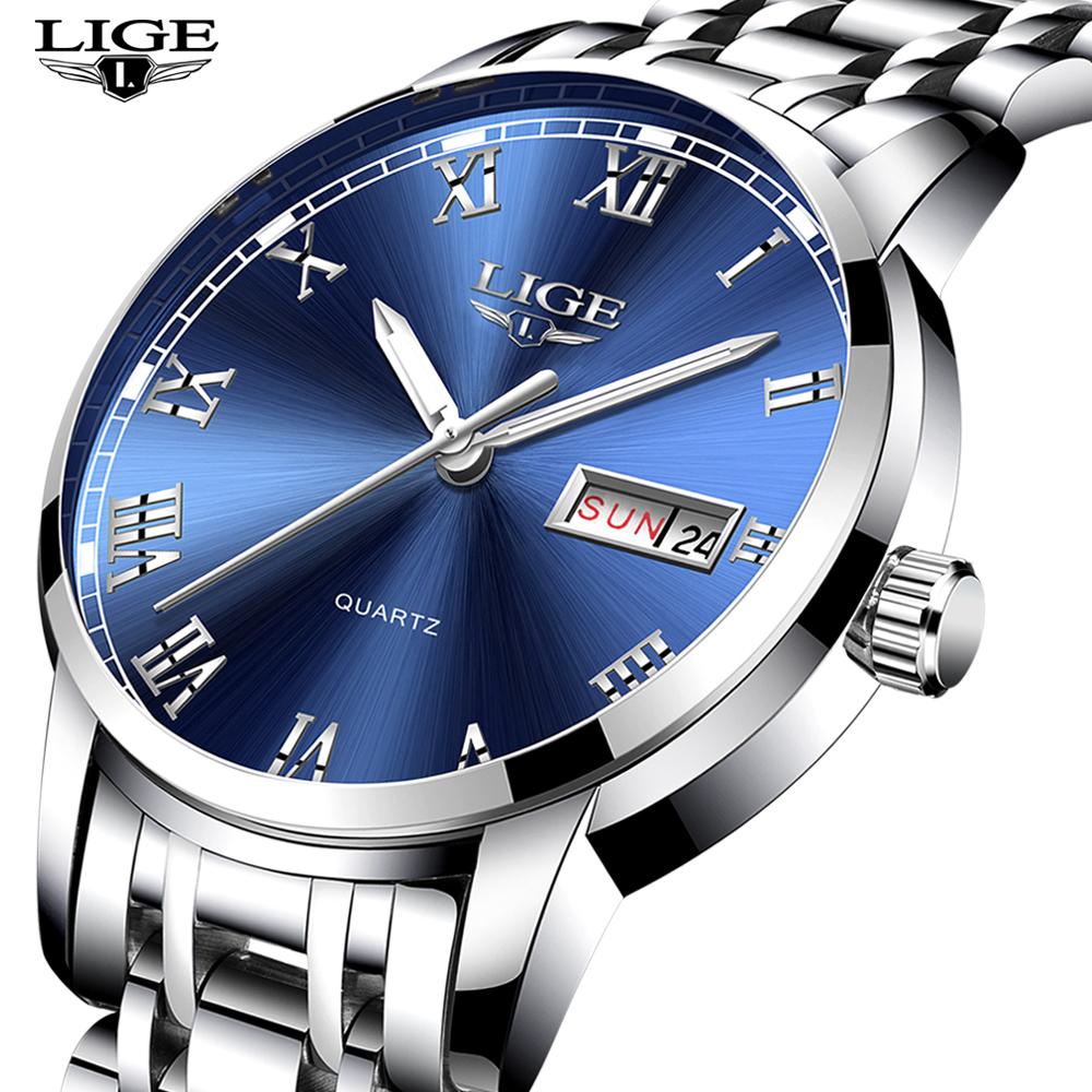 Lige Brand 9846 Model New Style Diver Watch Men Quartz Charming