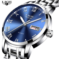 LIGE Brand 9846 Model New Style Diver Watch Men Quartz Charming Luxury Stainless Steel Watches