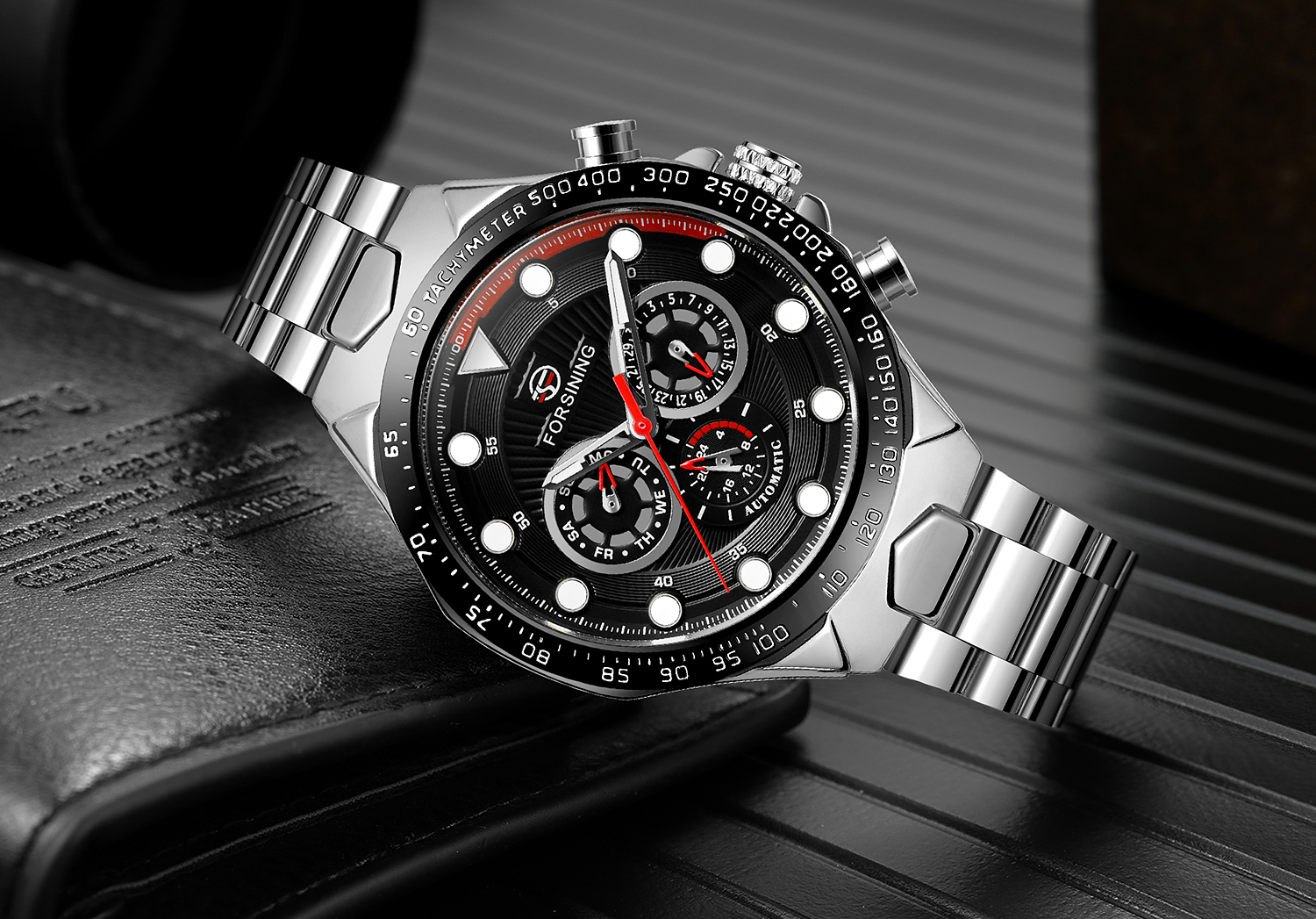 2019 FORSINING new arrival luxury men watch 3 ATM water resistant automatic 24 hours male wrist watches