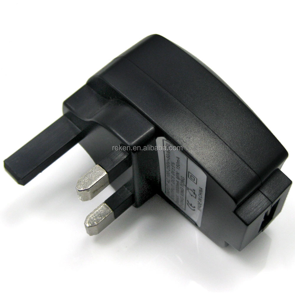 Micro USB Mains Charger UK 3 pin Travel Wall Adapter