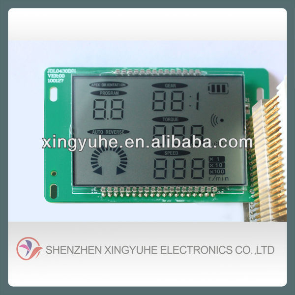 backlight connector lcd for 3 phase energy meter