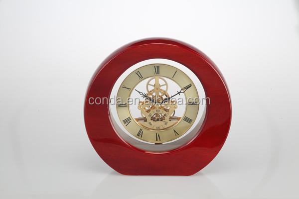 decorative quartz skeleton desk clocks ,decorative desk clocks