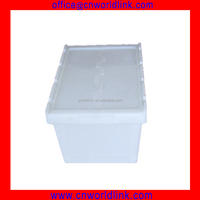65L OEM Colorful Storage Plastic Handle Case With Attached Lid