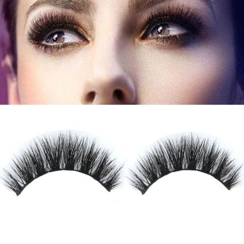 28bfdfd2d24 1 Pair 100 Real Mink Natural Thick False Fake Eyelashes Eye Lashes Makeup  Extension Beauty Tools
