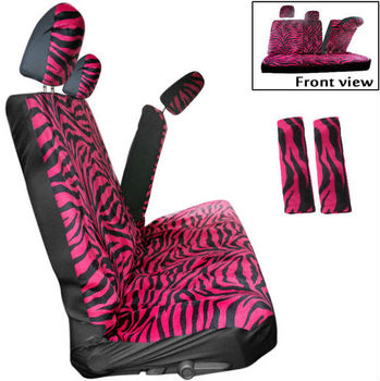 Pleasing Hot Pink Zebra Animal Print 1 Black Front Rear Bench Row Truck Seat Covers Buy Car Seat Cover Black And Whit Car Seat Cover Padded Car Seat Cover Machost Co Dining Chair Design Ideas Machostcouk