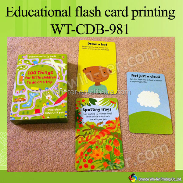 WT-CDB-982 vocabulary flash cards printing