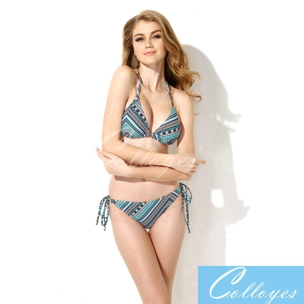 884c8435c6 Get Quotations · beach dress Ethnic Foil Triangle Top Bikinis set Swimsuit  women summer neoprene sexy swimwear bathing suit