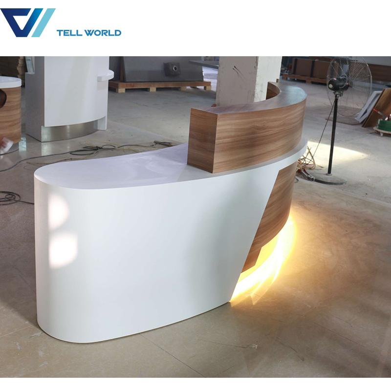 120 color option artificial marble reception desk display counter cheap modern receptin desk