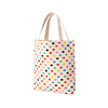 Recent design eco friendly supermarket travel recycle 5-ounce Pure Canvas wholesale cheap folding storage insulated shopping bag