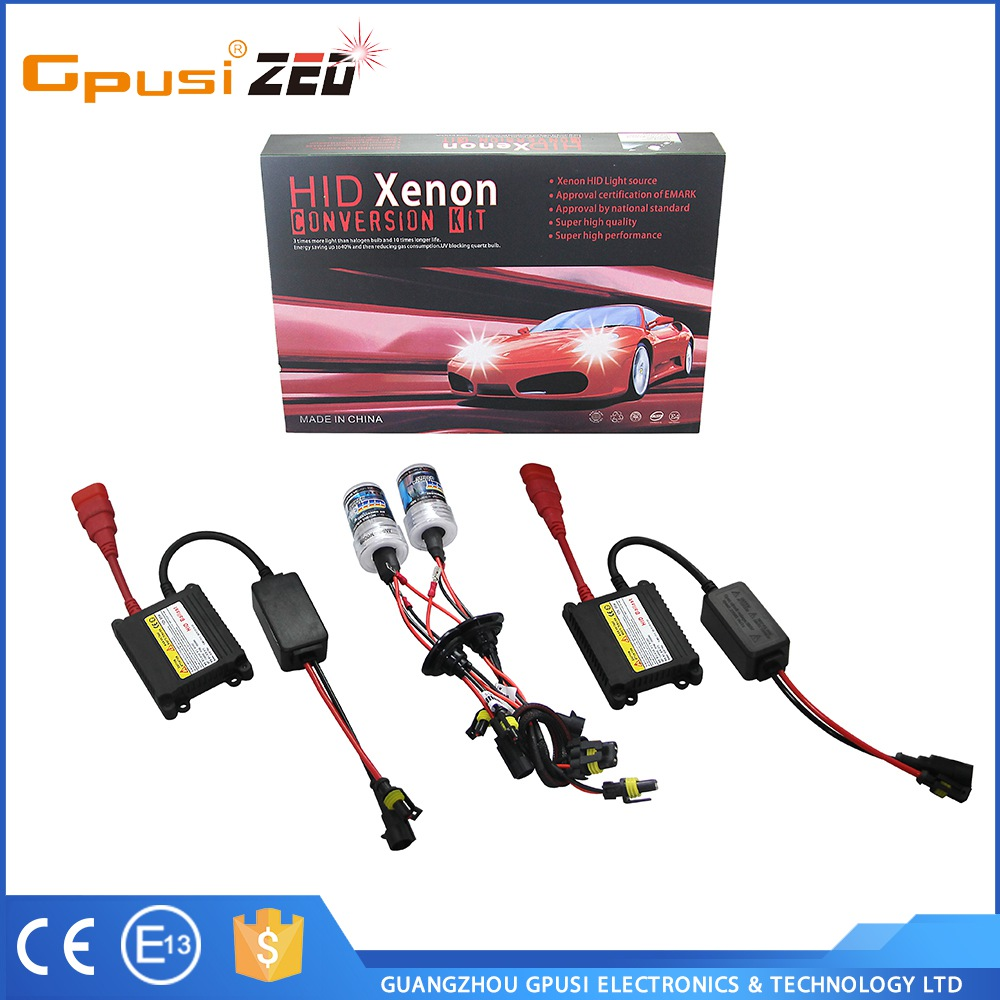 Factory direct automotives lighting 35W xenon HID headlight H7 metal base all in one kit seperate ballast
