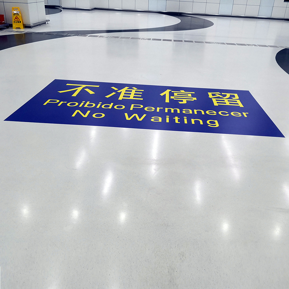UV Printing Custom Vinyl Floor Sticker Decals Printing, Floor Graphics