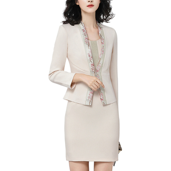 Custom office women formal two-piece suit dress new fashion suit for autumn and winter for OEM service