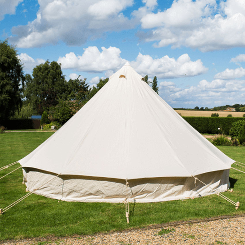 6m rolled up wall bell tent best camp glamping bell tent with zipper ground