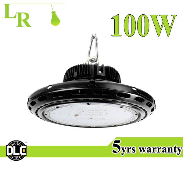 High lumen DLC 100LM/W meanwell driver 100W 150W 200W UFO LED High Bay Light,High/Low Bay/Sports/Factories Lighting