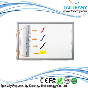 86'' IR 10 points touches interactive white board with smart pen tray