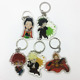 make your own clear double side printed japan anime acrylic keychain