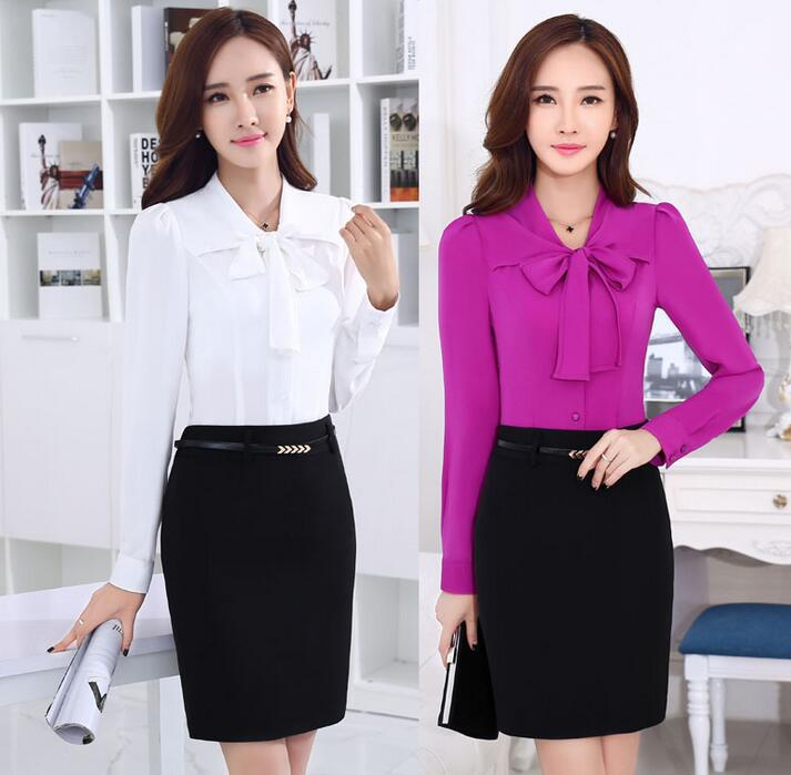 Office uniform blouse designs for women for Office uniform design 2016