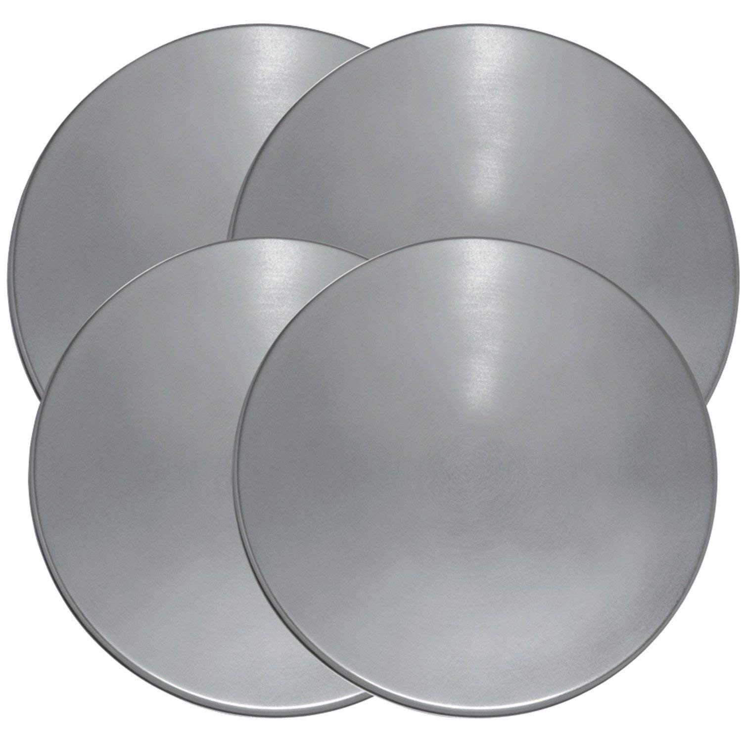 KHY (4) Stainless Steel Round Electric Kitchen Stove Range Top Burner Covers Set FOR Range Kleen 550-4